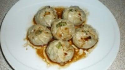 Ravioli cinesi con gamberi