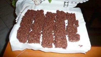 Barrette al cioccolato fondente