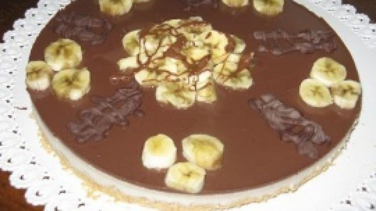 Cheese cake allo yogurt banane e nutella