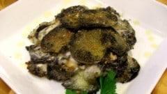 Antipasto con patate, pesce spada e mozzarella