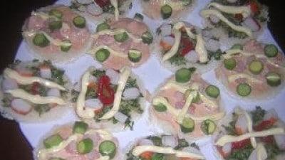 Tartine rosa e verde