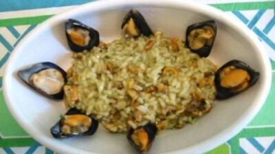 Risotto con lumachine di mare e cozze