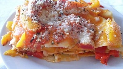 Lasagne ai peperoni light