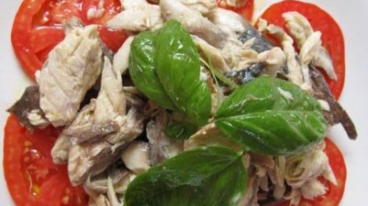 Sgombro al sale in insalata