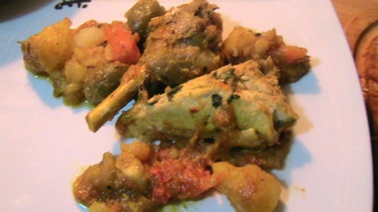 Pollo al limone e olive