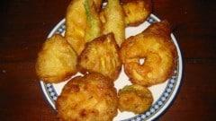 Fritto di verdure con pastella con patate