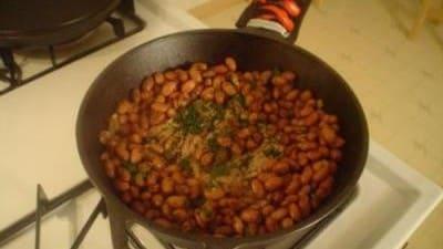 Agnello con fagioli in casseruola
