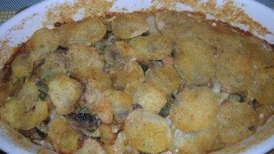 Tortino di patate e funghi freschi