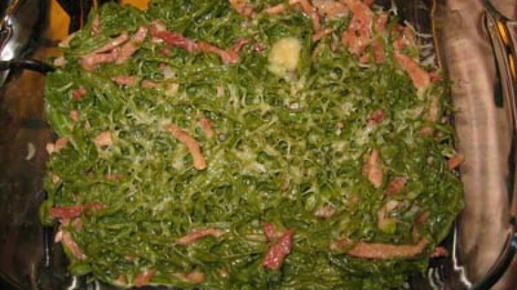 Tagliolini verdi gratinati