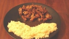 Pollo all'aceto balsamico e curry