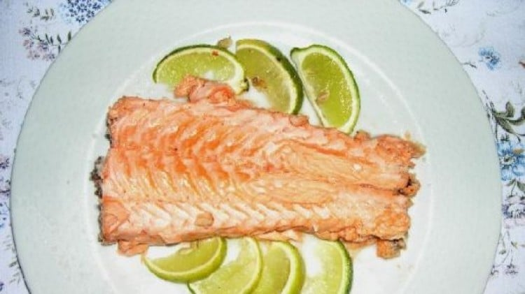 Salmone in crosta di sale