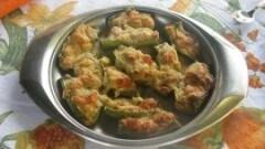 Zucchine gratinate con besciamelle e gamberetti