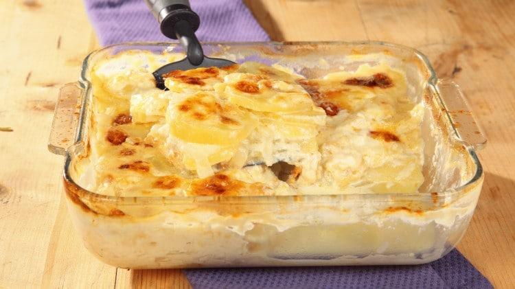 Gratin di patate e cipolle