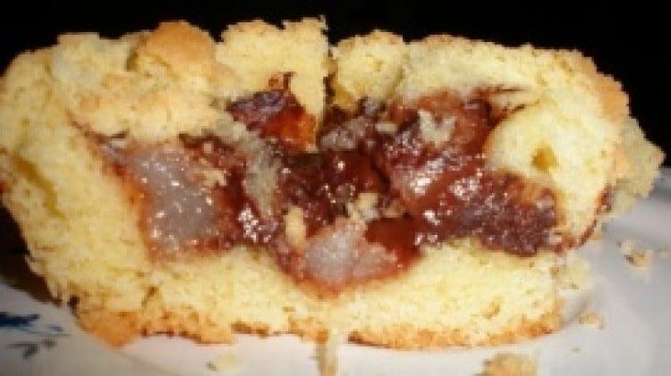 Muffin di frolla con cuore di mela e cannella