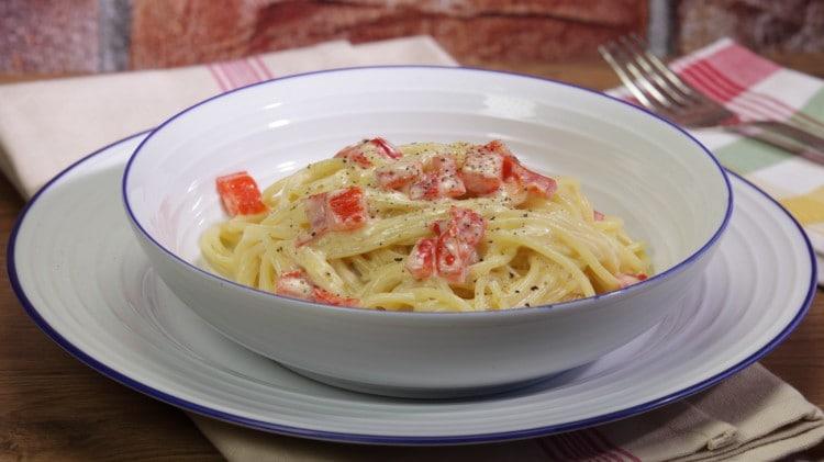 Spaghetti ai peperoni e mascarpone