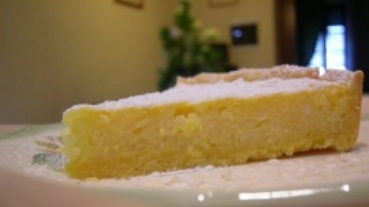 Crostata con budino di riso