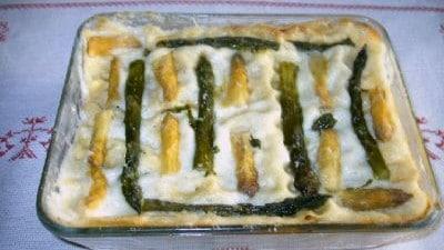 Lasagne agli asparagi e prosciutto cotto