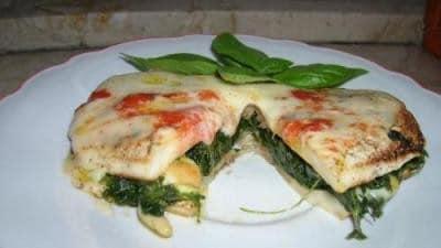 Melanzane ripiene di spinaci