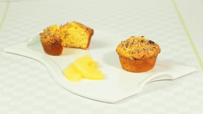 Muffins all'ananas e panna acida