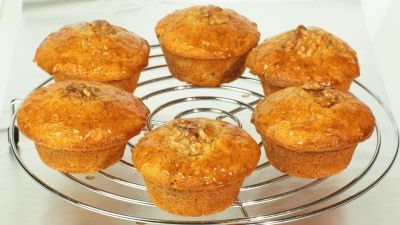 Muffins alle noci e sciroppo d'acero