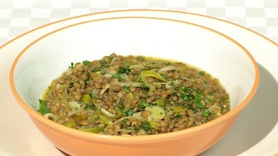 Minestra di porri e lenticchie