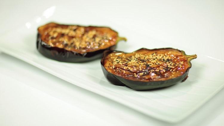 Melanzane in salsa miso