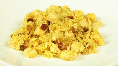 Petti di pollo al curry con riso