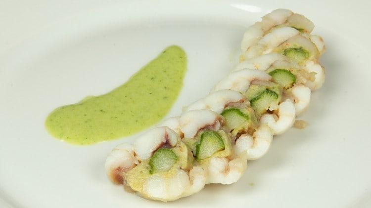 Rana pescatrice agli asparagi