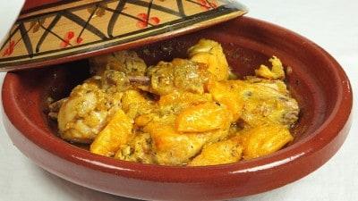 Tajine di pollo con arance caramellate
