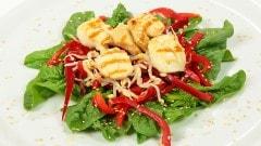 Insalata di capesante e spinaci
