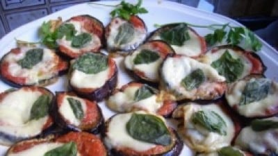 Pizzette di melanzane lights