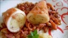 Calamari ripieni di patate e nocciole