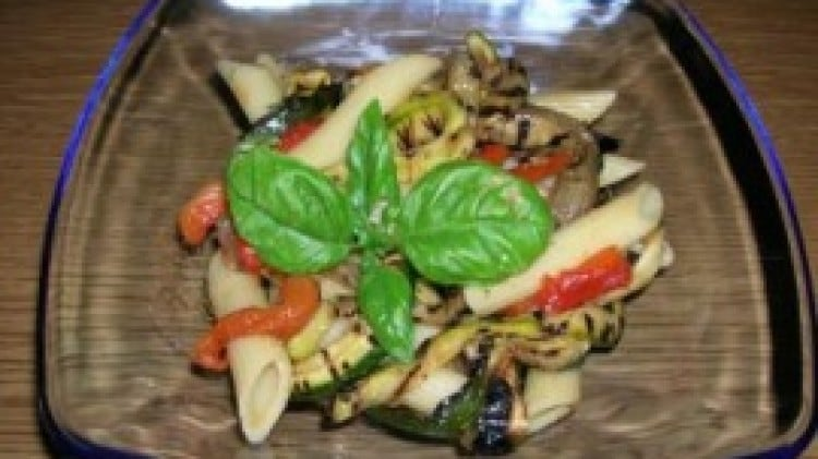 Penne fredde al tris di verdure