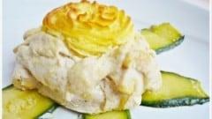 Turbante di pollo su stella di zucchine