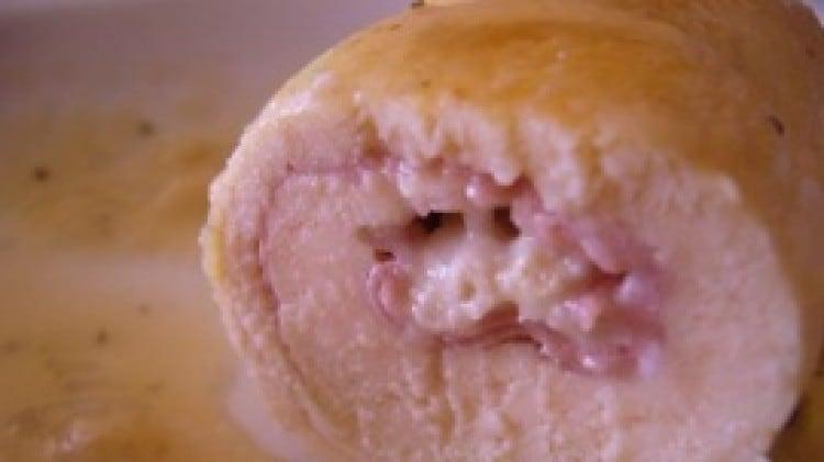 Rotolini di pollo con mortadella e cuore di gorgonzola