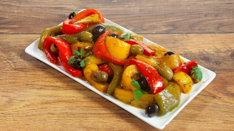 Peperoni in agrodolce con le olive