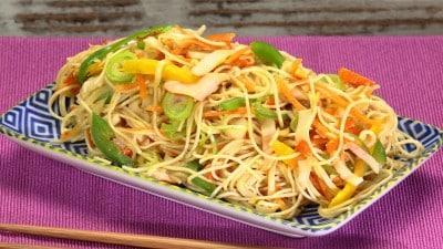 Noodles con surimi