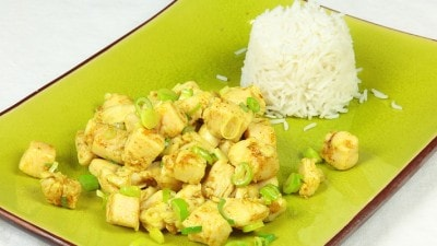 Pollo al curry cinese