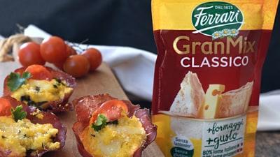 Cestini di bresaola con patate e formaggi
